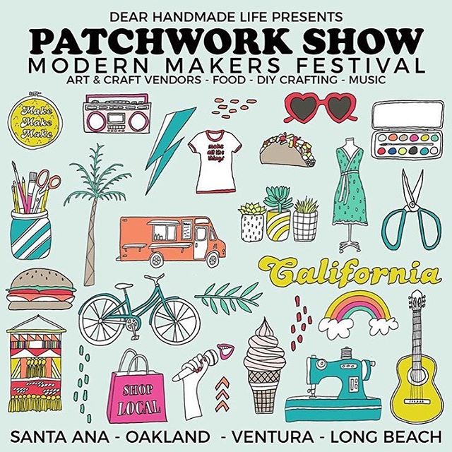 We will be setup at Patchwork Show in Santa Ana tommorrow (5/26/19) from 11-5pm with a lot of new products!  Limited supply! Handcrafted in California. Come thru & support.  Lot of great vendors, food & music!  Fun for the whole family!  For more info - @dearhandmadelife