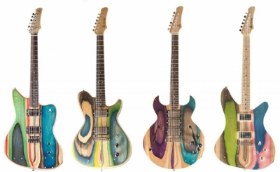 The Vancouver International Guitar Festival will showcase a wide variety of instruments, including these Prisma guitars made from old skateboards by Nick Poufard.