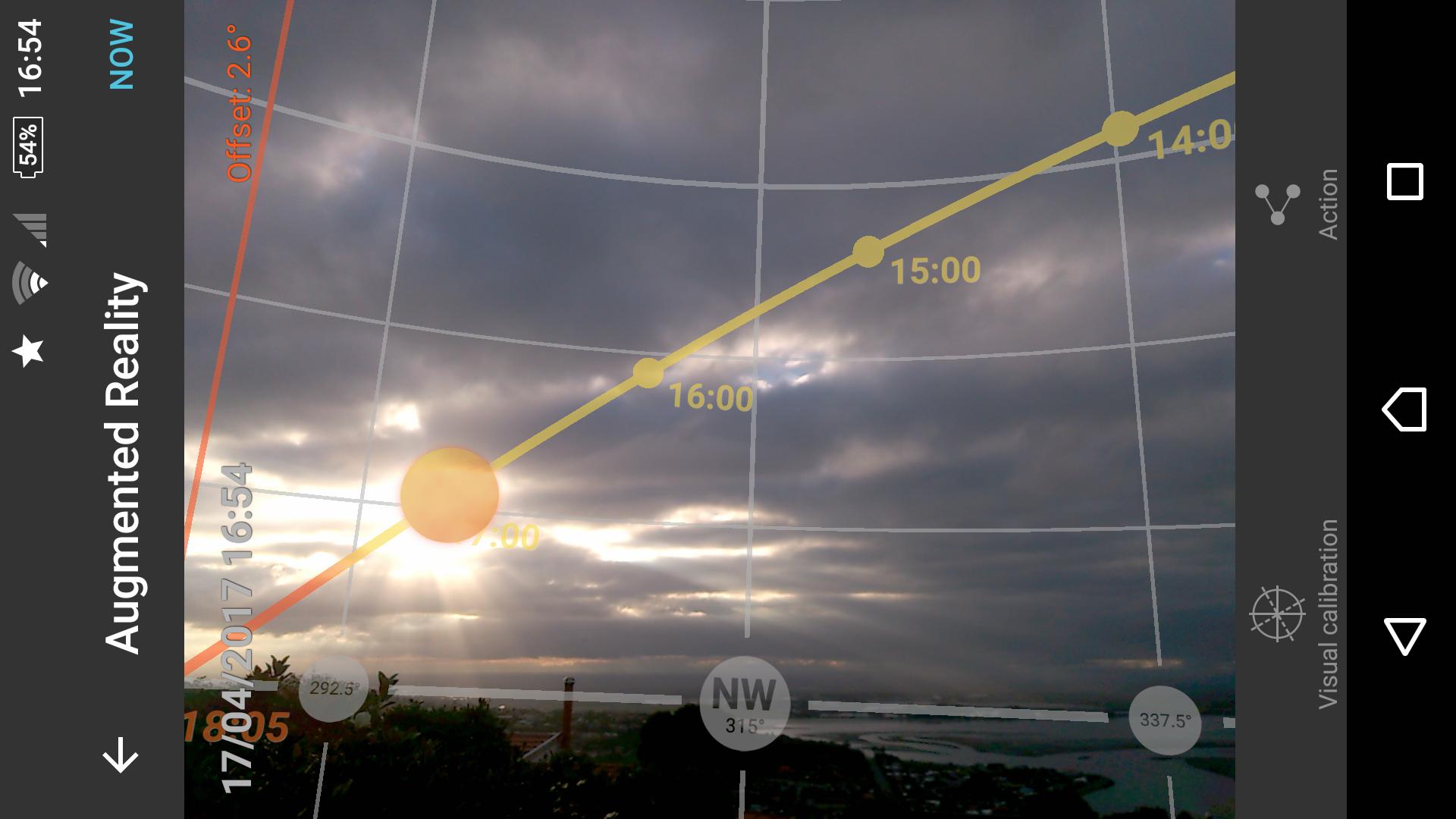 Photopills daytime AR mode
