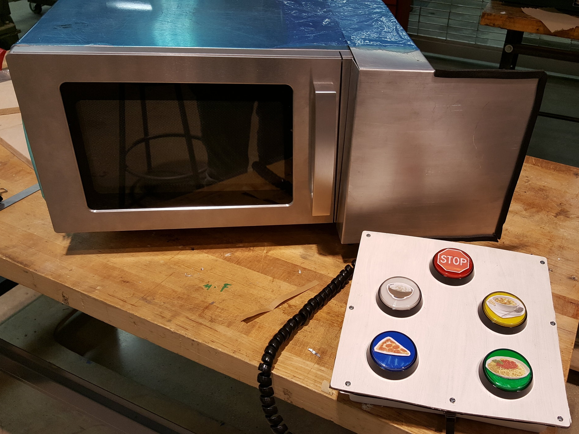 Accessible Microwave - User interface for people with disabilities