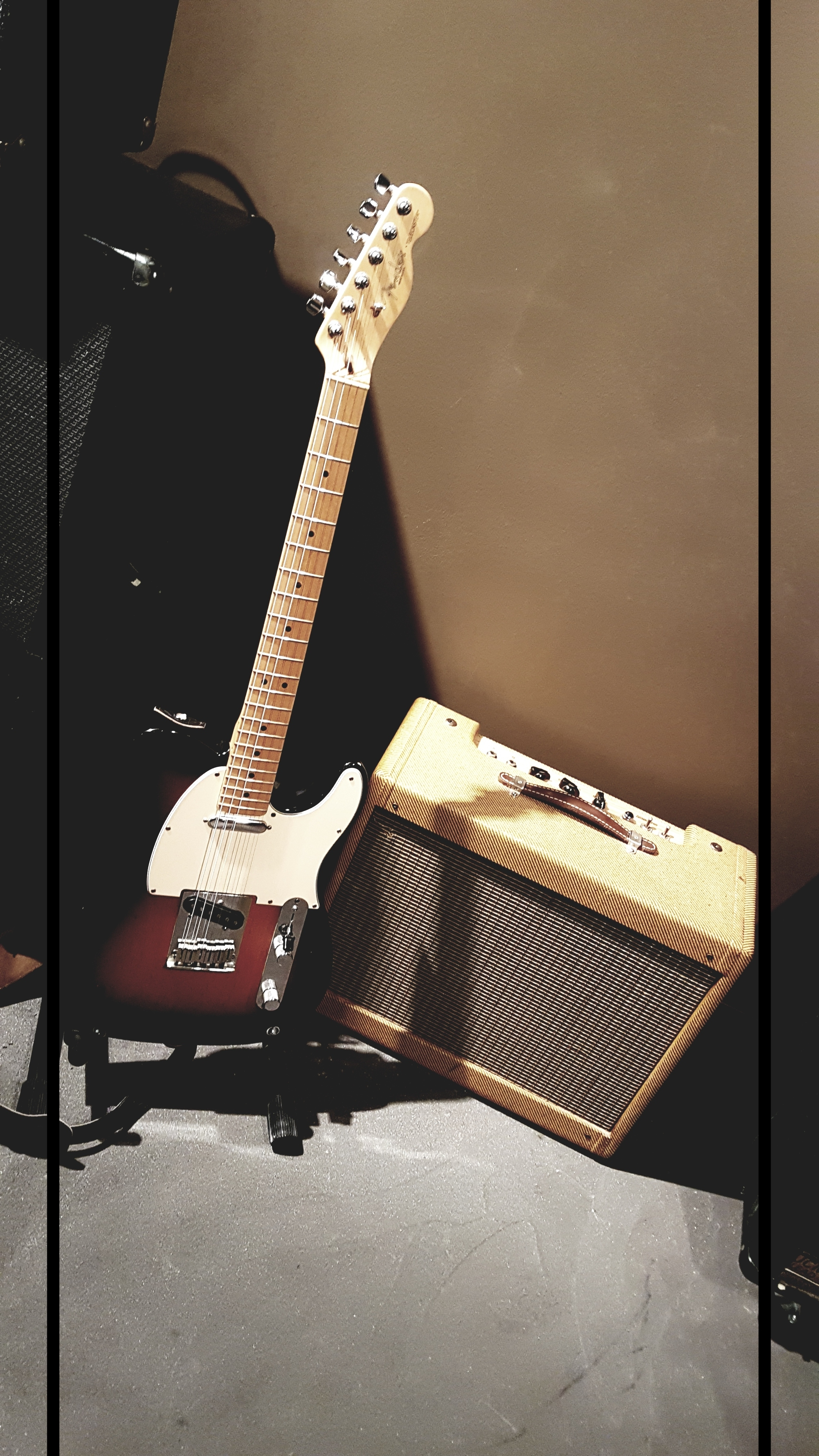 An old stock, handmade, point-to-point repro 5E3 Deluxe and American Standard Telecaster