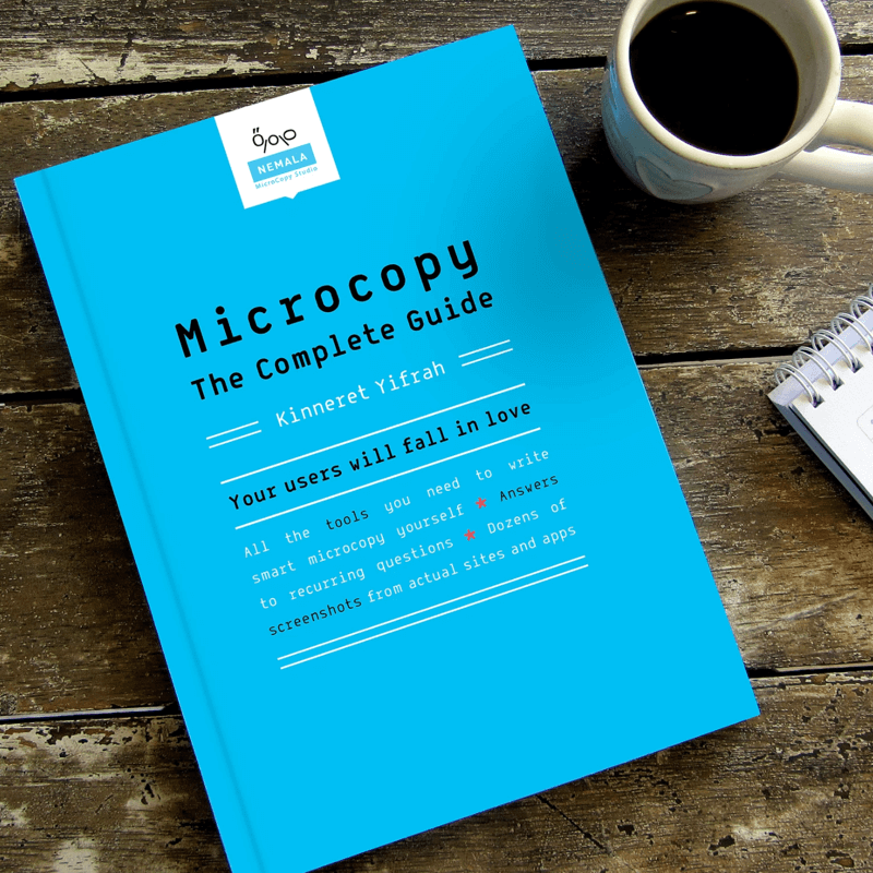 Image of Microcopy: The Complete Guide, courtesy of the author's website