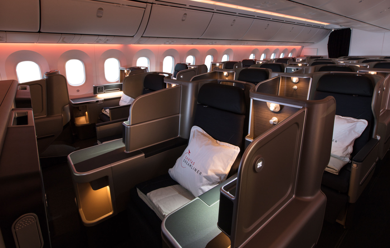 New cabin lighting designed to help passengers adjust to new timezones.