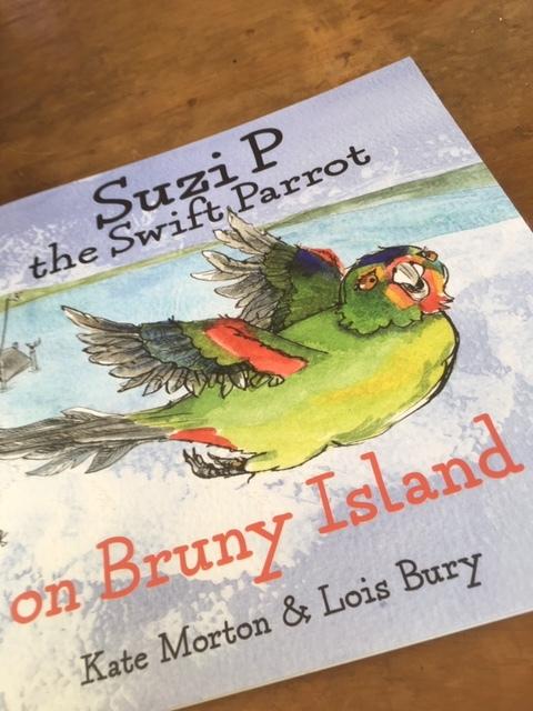 suzi p the swift parrot on bruny island