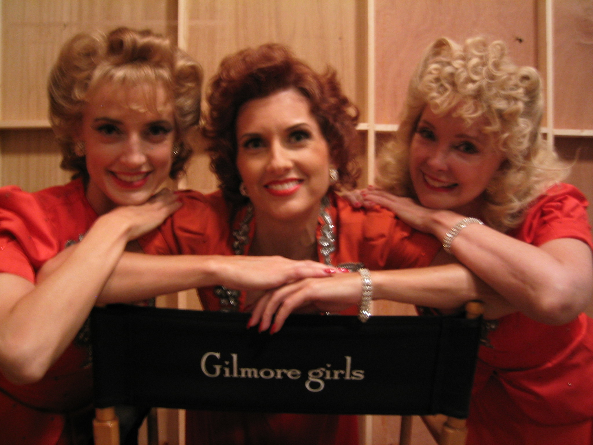 "The Swing Dolls on set of ""Gilmore Girls"""