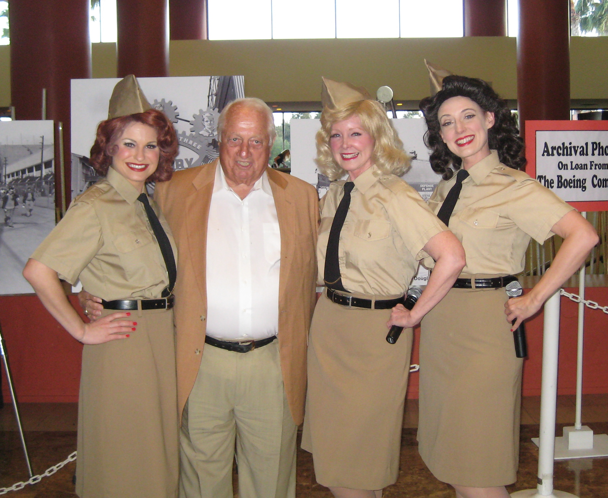 With Tommy Lasorda at a private event honoring Louis Zamperini