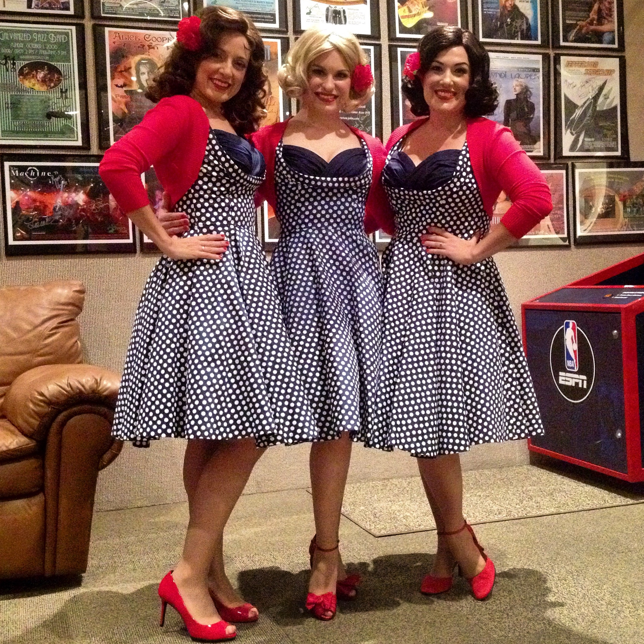 Performing at Penns Peak as The McGuire Sisters