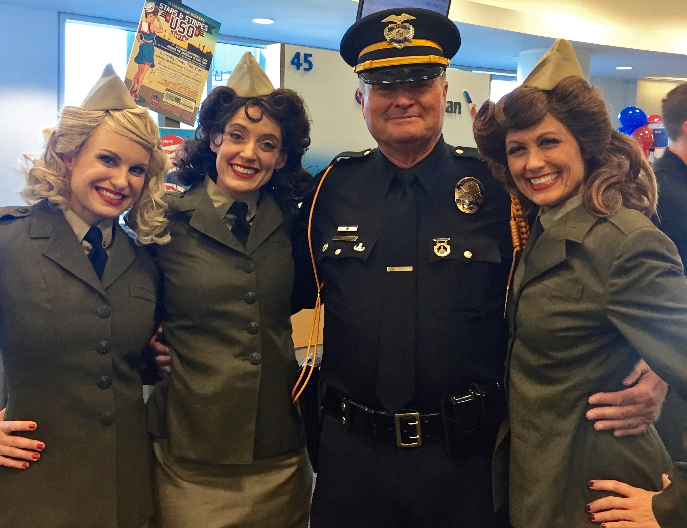 The Swing Dolls with one of LA's finest