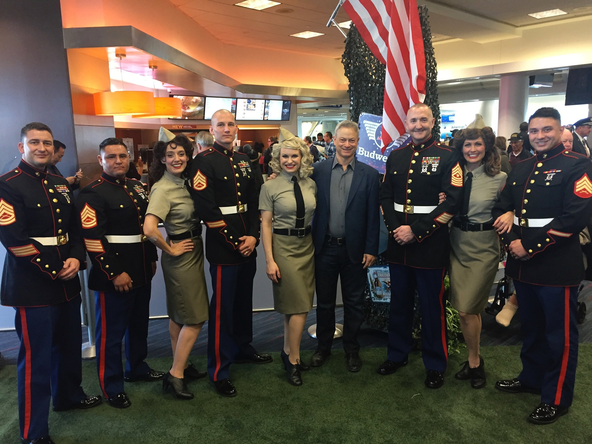 75th Anniversary of Pearl Harbor Honor Flight, w/ Gary Sinise and some brave Marines