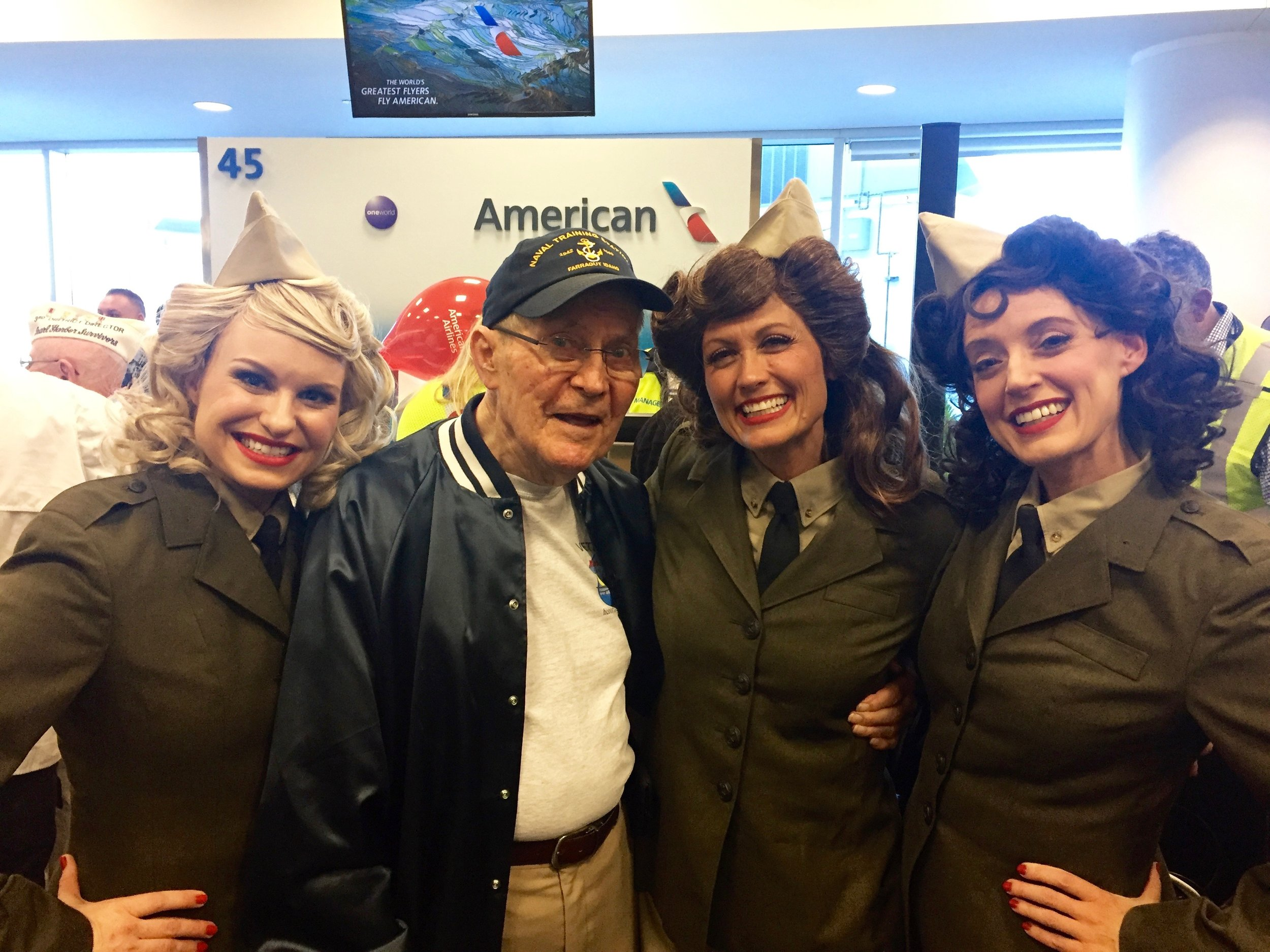 With Pearl Harbor survivor at the 75th Anniversary Honor Flight