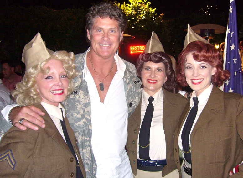 The Swing Dolls with David Hasselhoff
