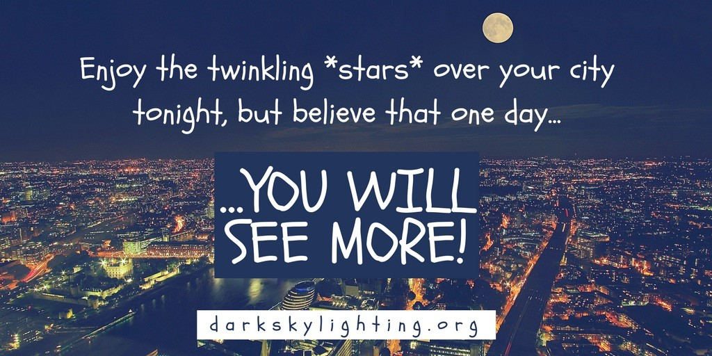 With Dark-Sky Lighting, One Day, You'll See More Stars!