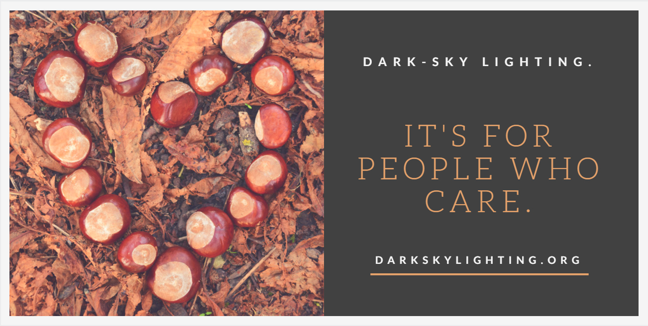Dark-Sky Lighting...It's for People Who Care