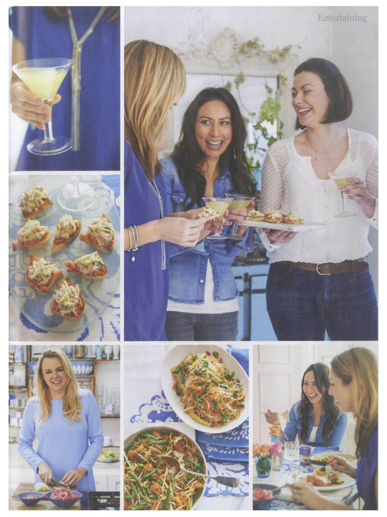 Caroline Artiss, Gee Charman, Sophie Michell and Jo Pratt feature in Waitrose Kitchen Magazine, May 2014, Page 3
