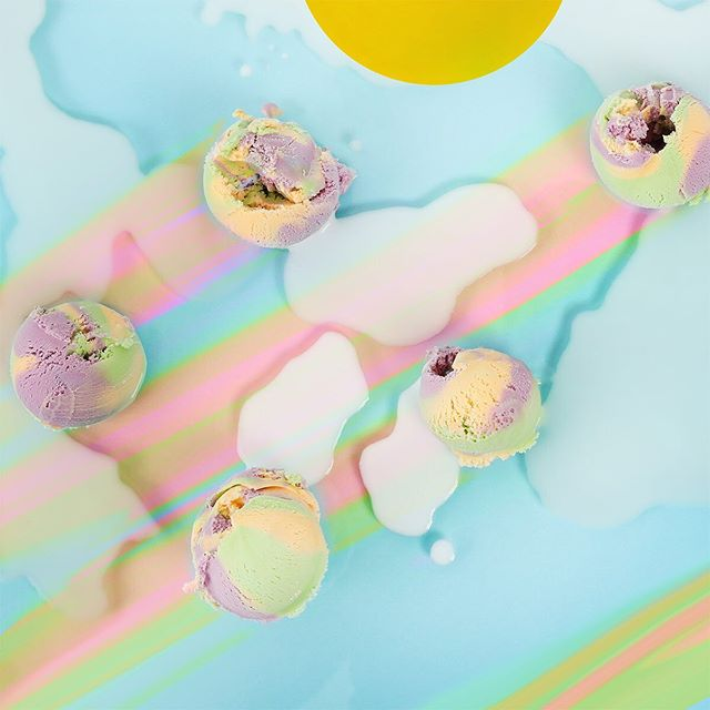 Don't wait for the clouds to clear, our Rainbow ice cream is here🙌🌈