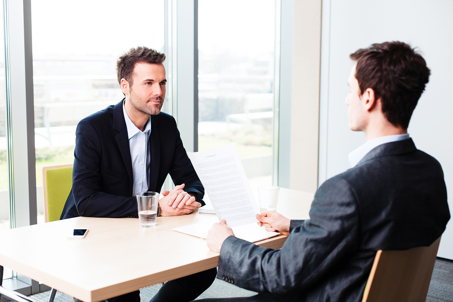 private meeting in an office