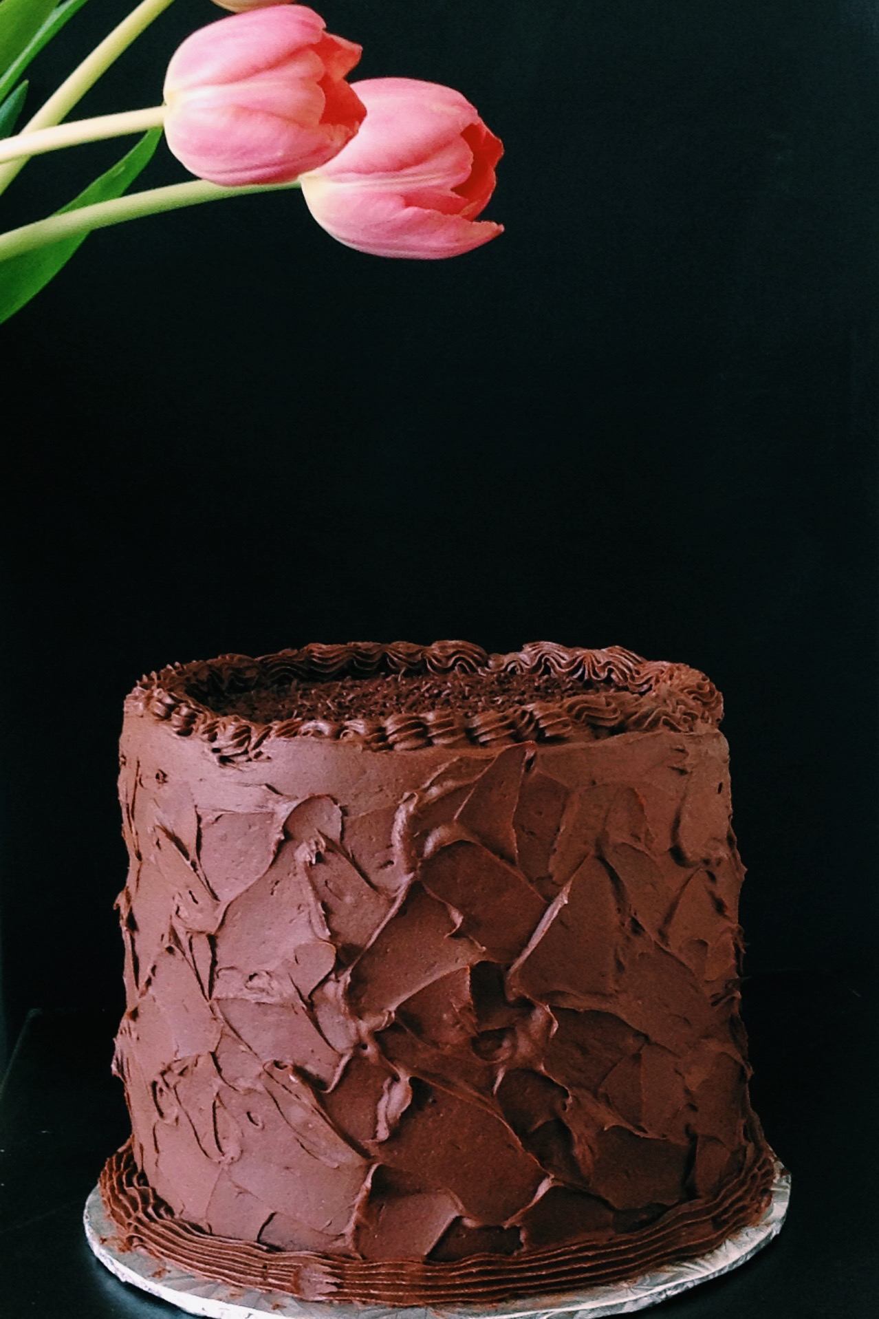 Chocolate lovers sculpted cake