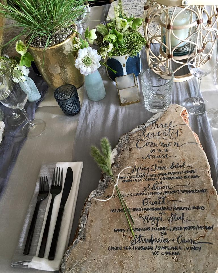 Orange-County-California-Coastal-Tablescape-Travertine-Caligraphy-Menu-Black-Matte-Flatware.jpg