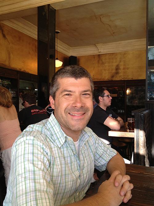 Marcus at a Haight-Ashbury establishment