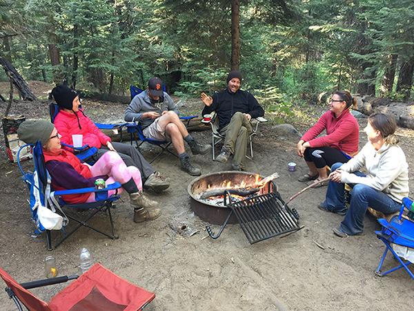 Camping at Lake Tahoe