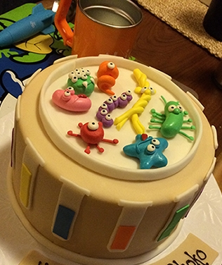 Microbes birthday cake