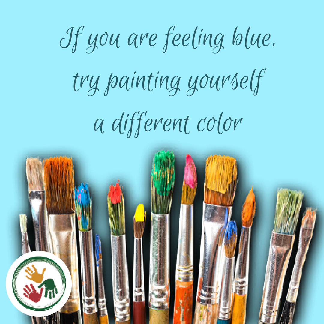 If you are feeling blue, try painting yourself a different color.png