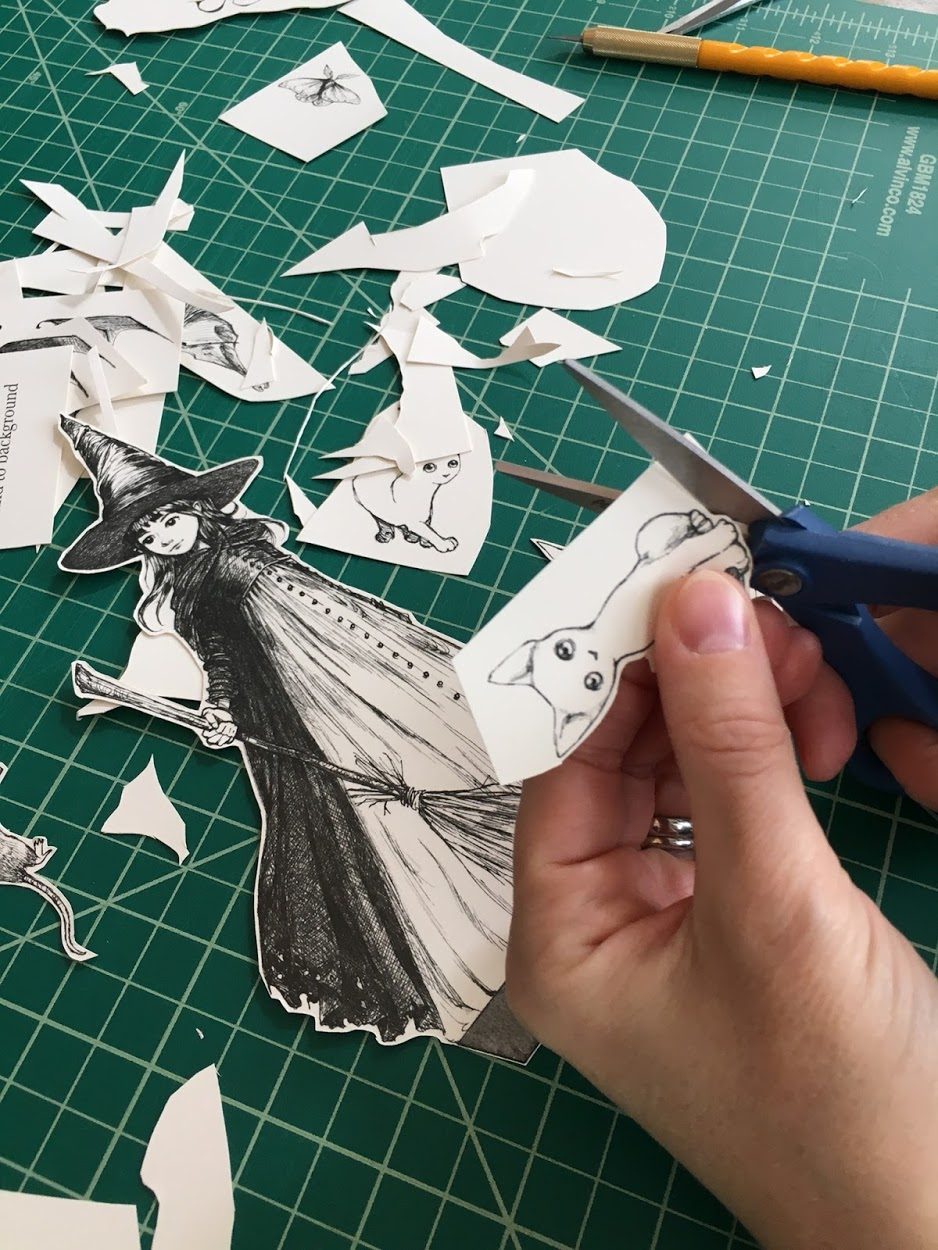 Step 7: cut out trees and characters