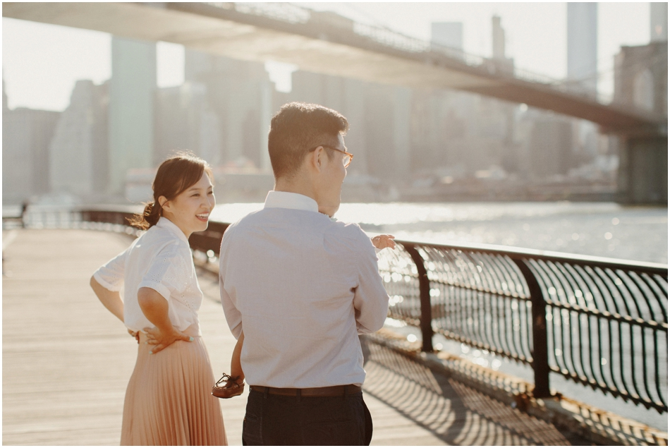 Dumbo Waterfront   Brooklyn Bridge   Stylish   Korean Family Photos