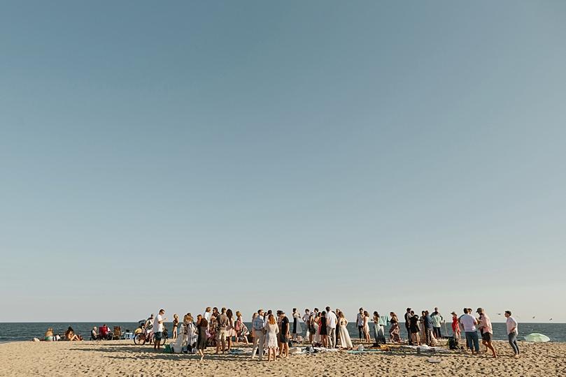 Intimate Rockaway New York Beach Wedding