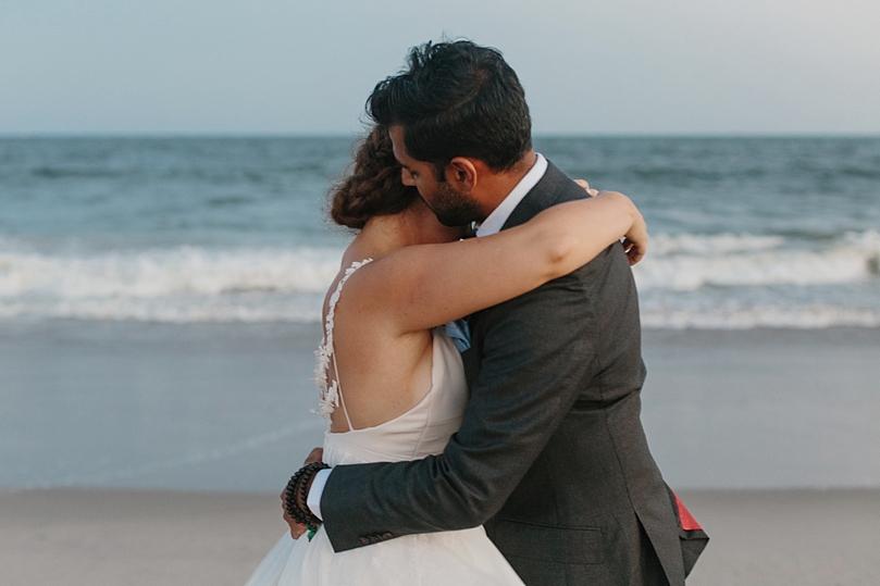 Wedding Portraits on the beach in Rockaway New York