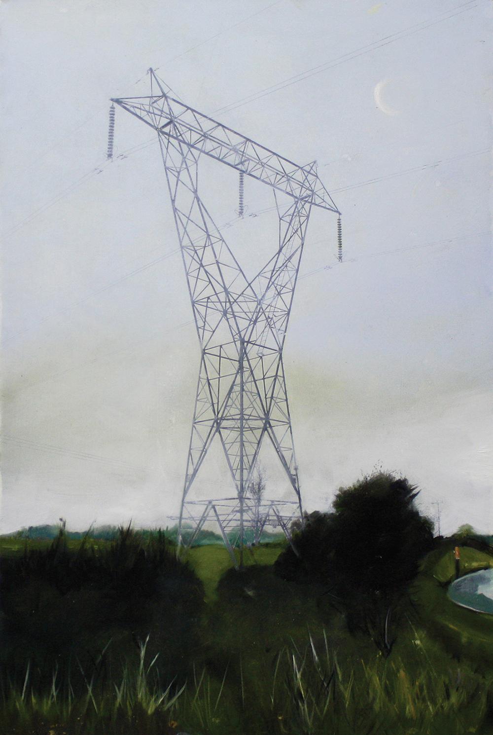 Edgeland 2   2012,oil on linen  76 x 50 cm