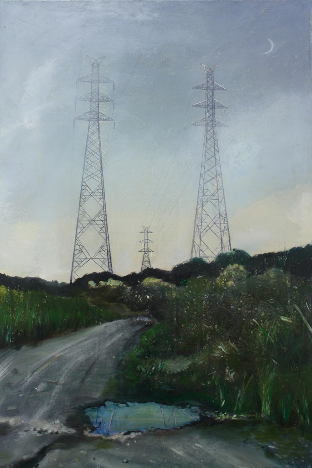 Edgeland 6   2012, oil on linen  50 x 76 cm