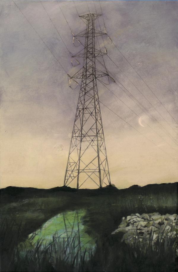 Edgeland 9   2012, oil on linen  50 x 76 cm