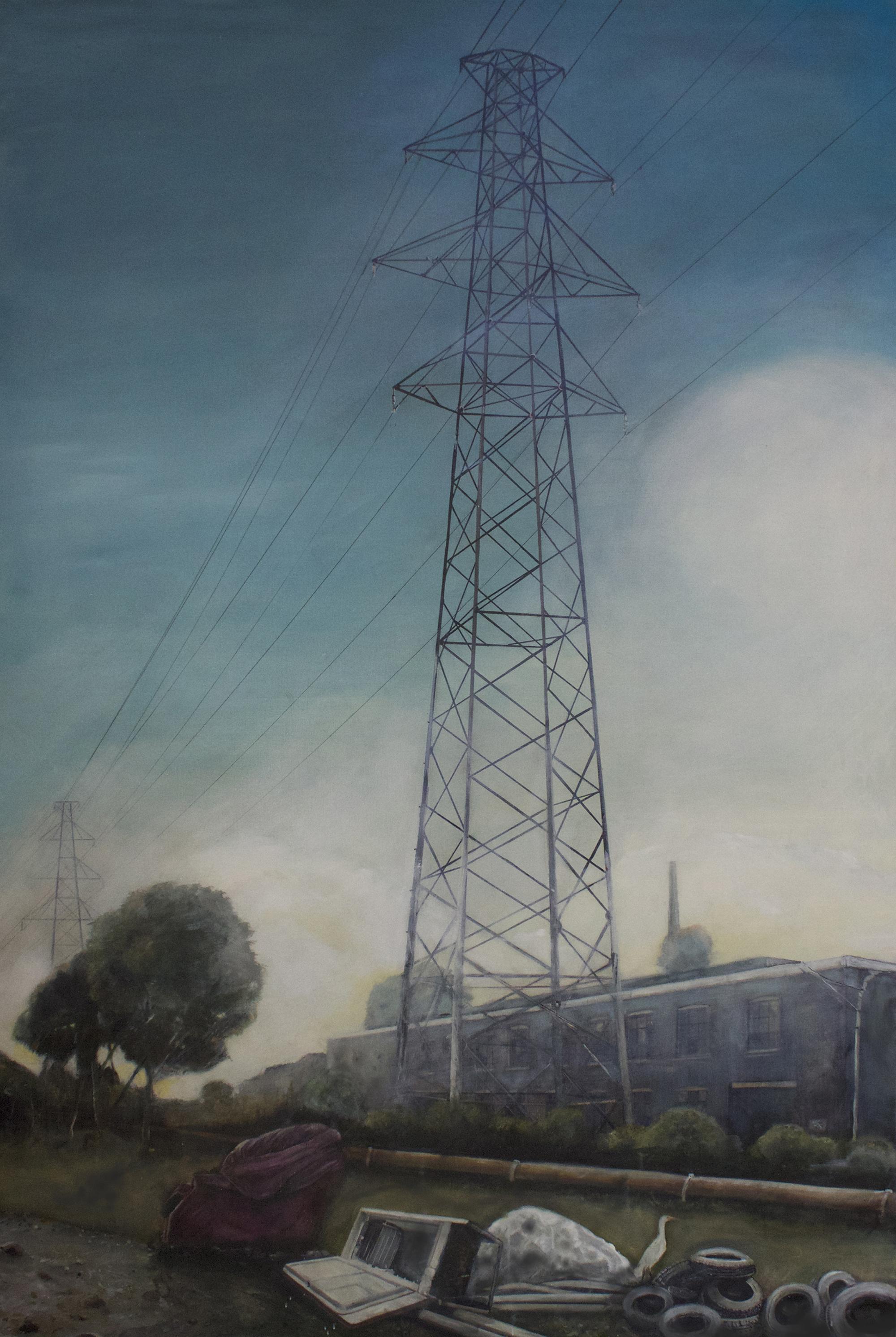 Lost Edgeland   2014, oil on linen  120 x 184 cm