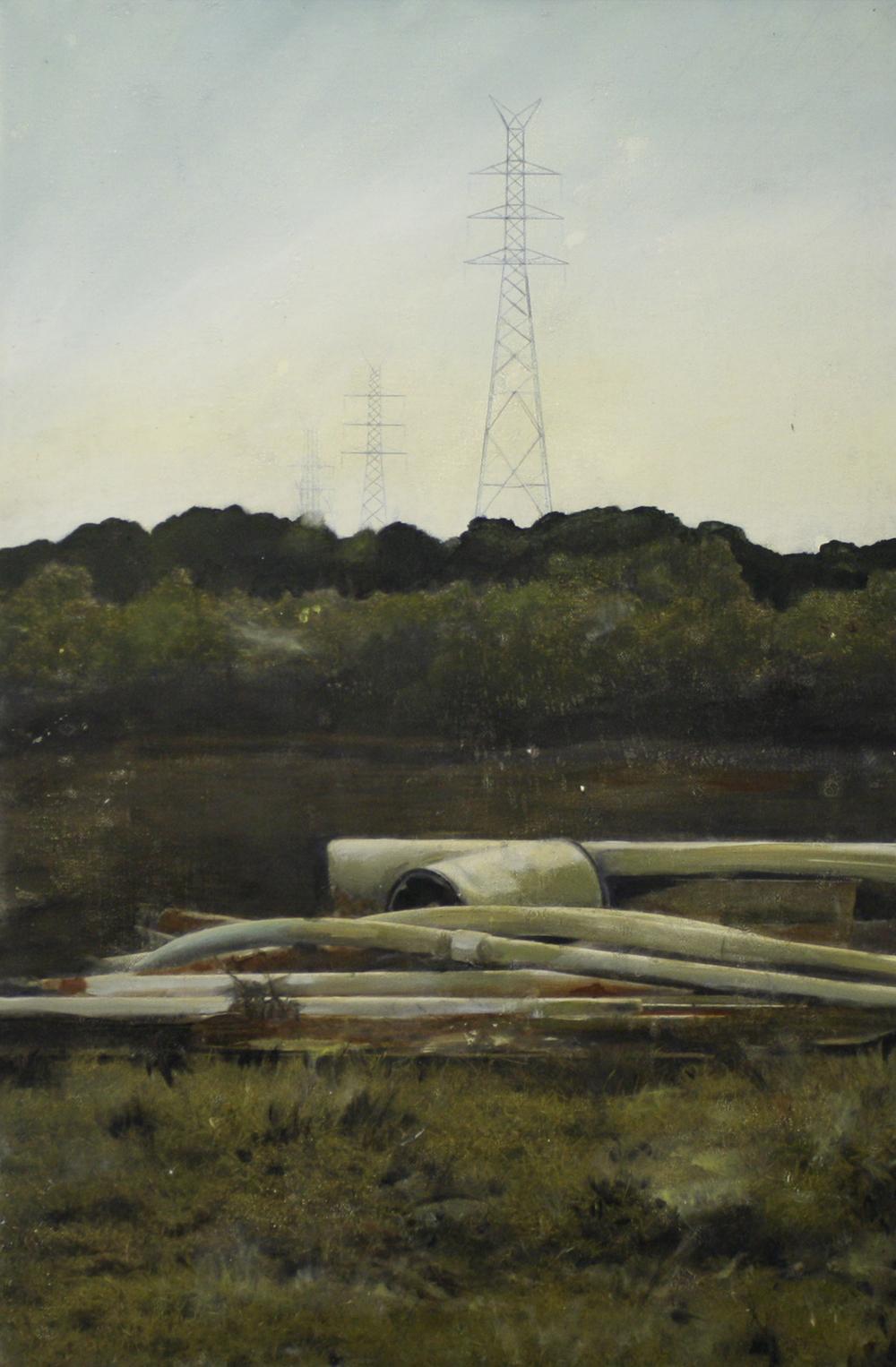 Edgeland 4    2012, oil on linen  50 x 76 cm
