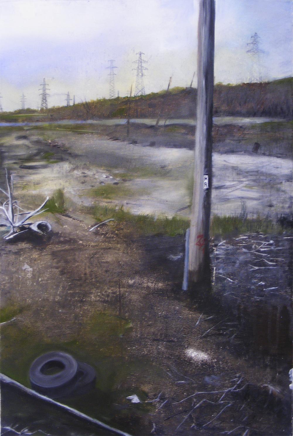 Edgeland 5   2012, oil on linen  50 x 76 cm