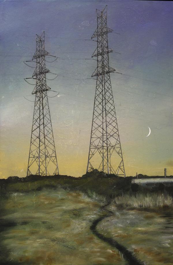Edgeland 7    2012, oil on linen  50 x 76 cm