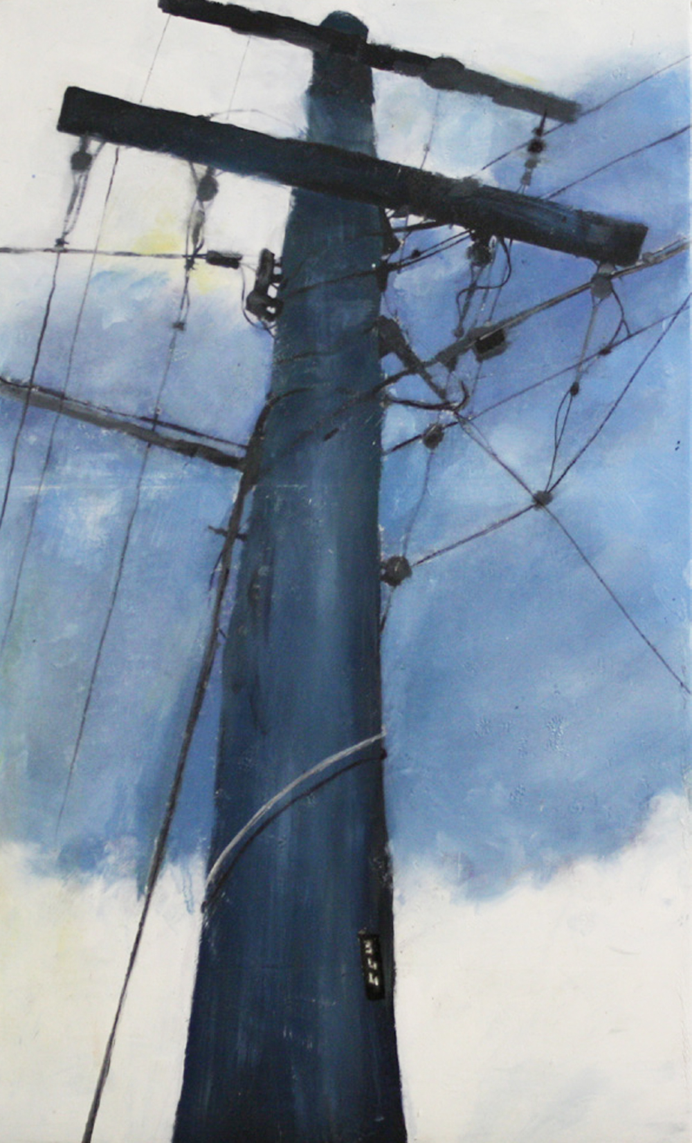Looking Up:  344   2011,oil on canvas on hardboard  50 x 76 cm