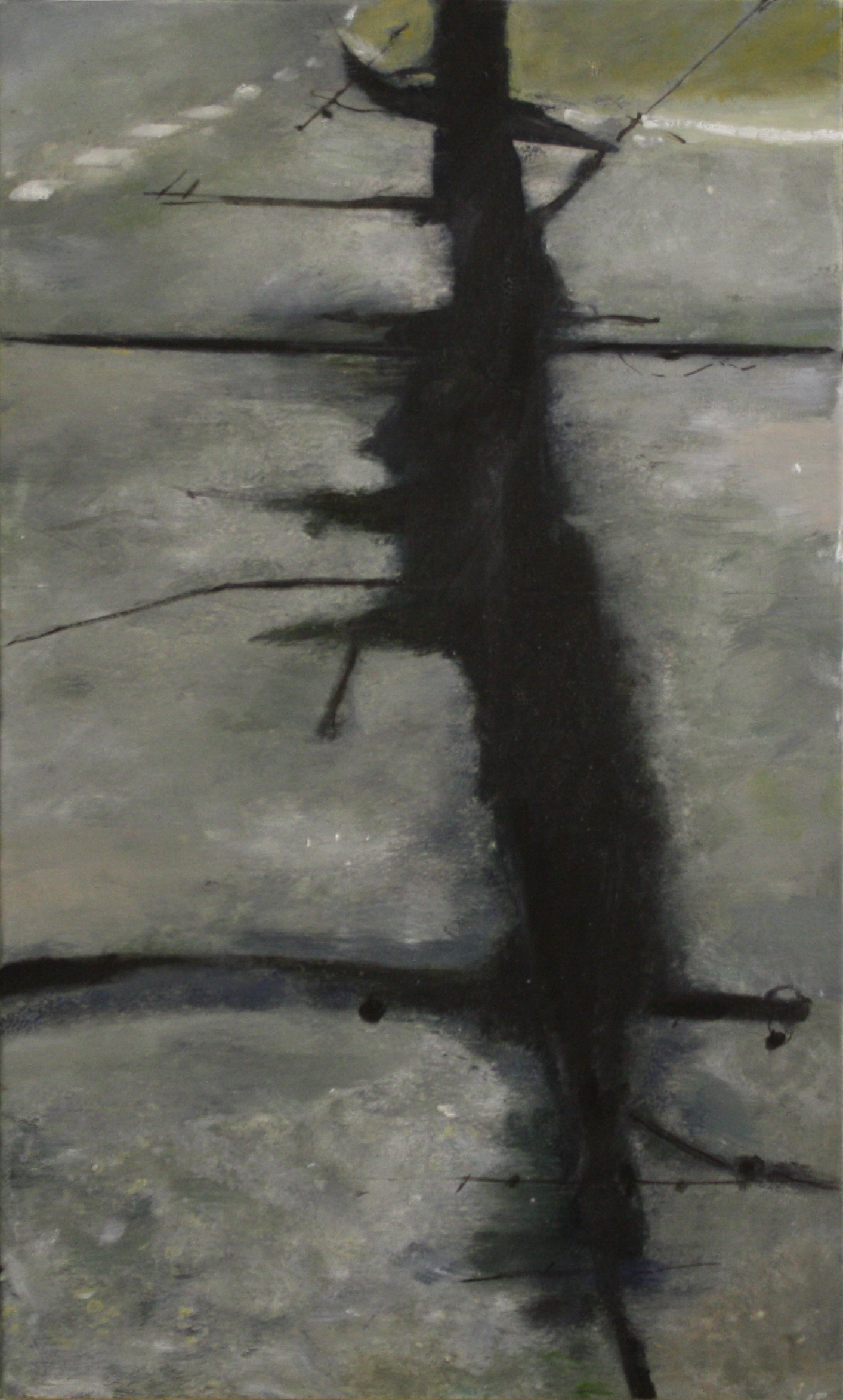 Shadows and Roads:  8140   2011,oil on canvas on hardboard  50 x 76 cm