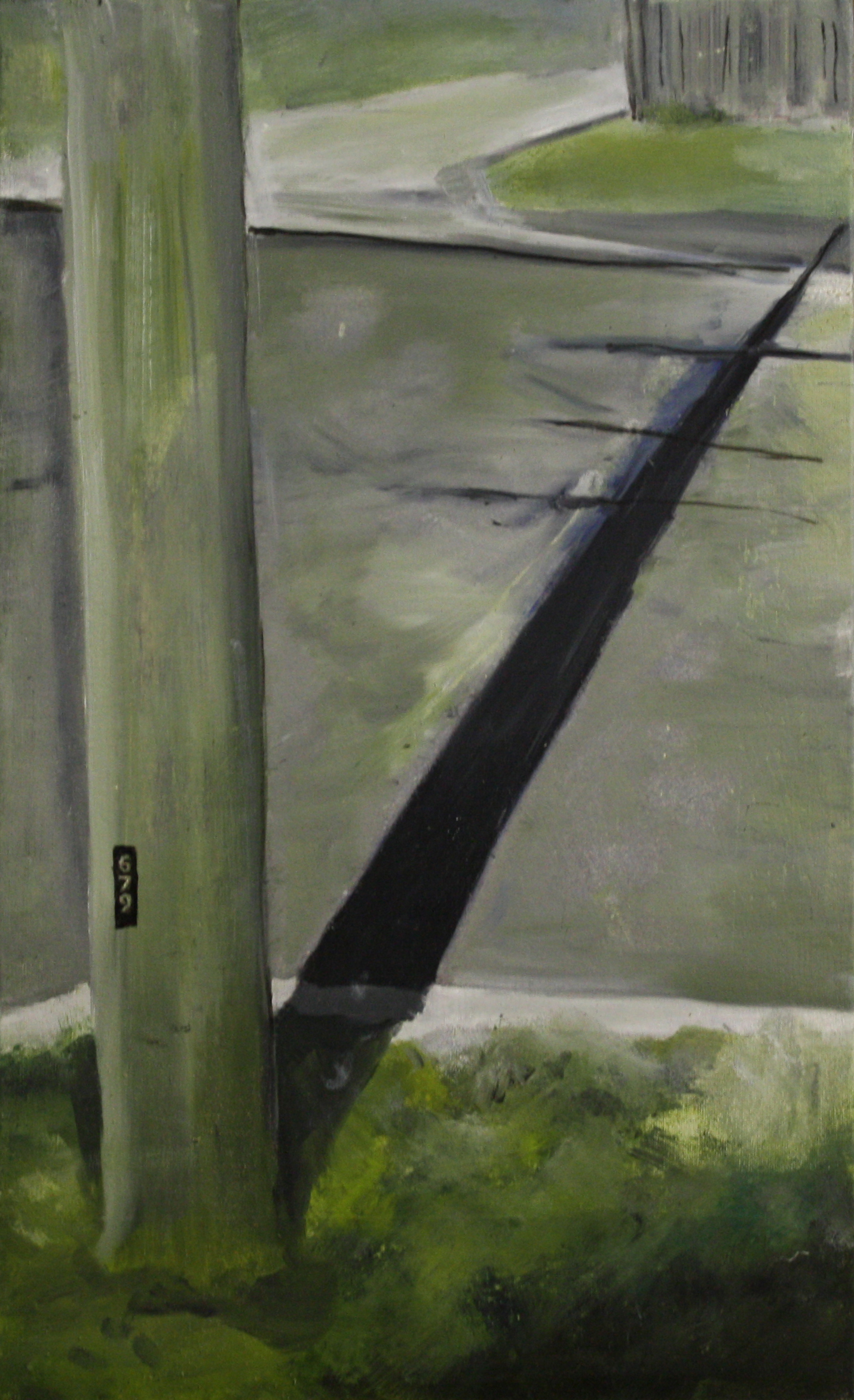 Pole and Roads:  312   2011, oil on canvas on hardboard  50 x 76 cm