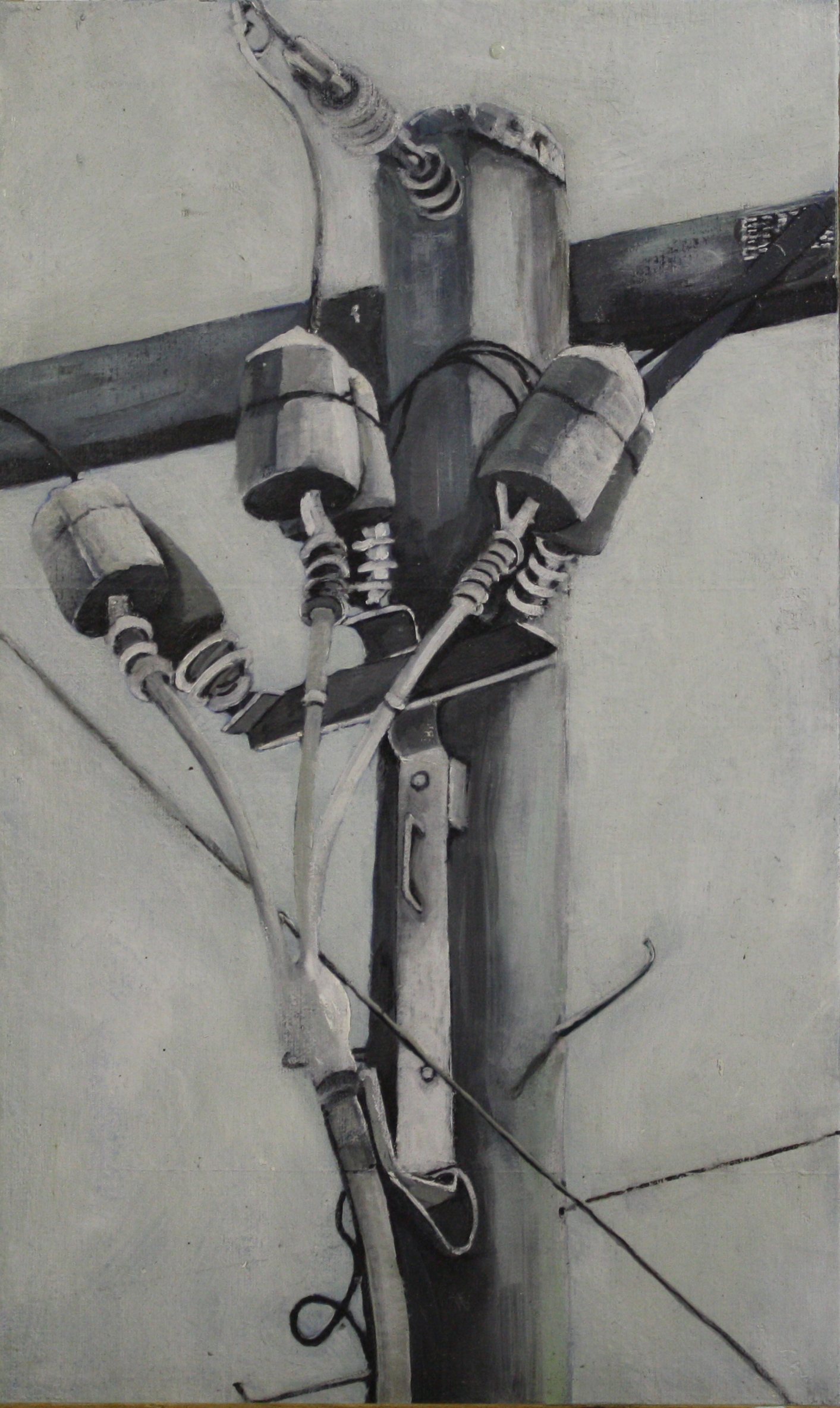 Components:  24712   2011, oil on canvas on hardboard  50 x 76 cm