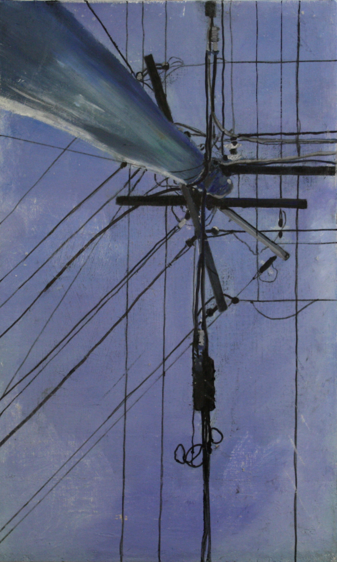 Looking Up:  41872   2011, oil on canvas on hardboard  50 x 76 cm