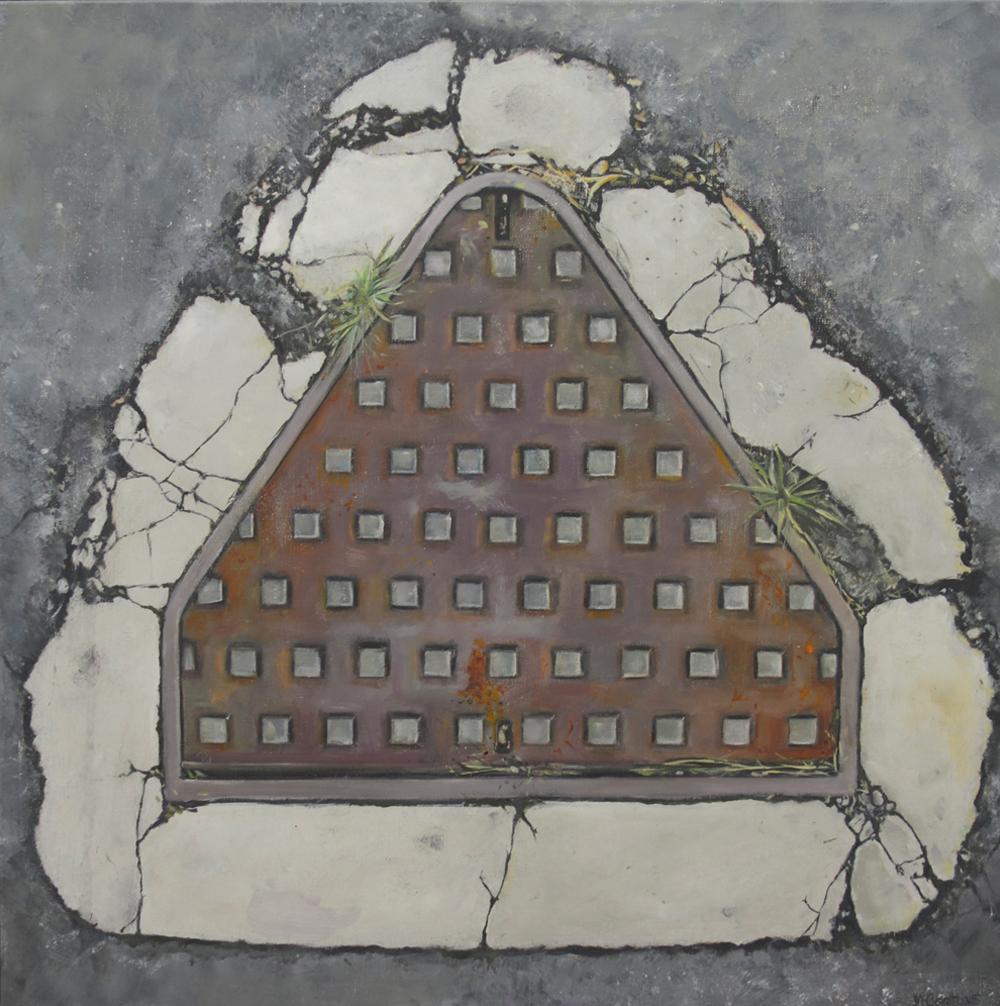 Pyramid of Bulimba   2014, oil on canvas  60 x 60 cm