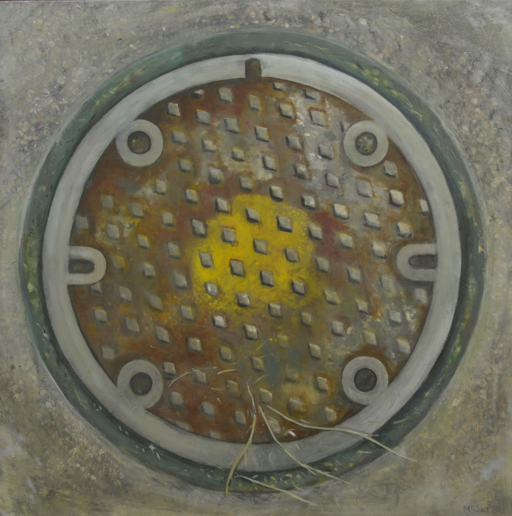 Yellow Target   2014, oil on canvas  60 x 60 cm