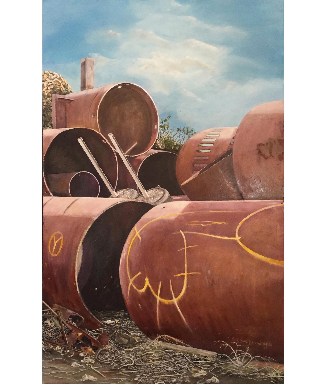 The Weight of Stillness   2016, oil on linen on hardboard  130 x 80 cm