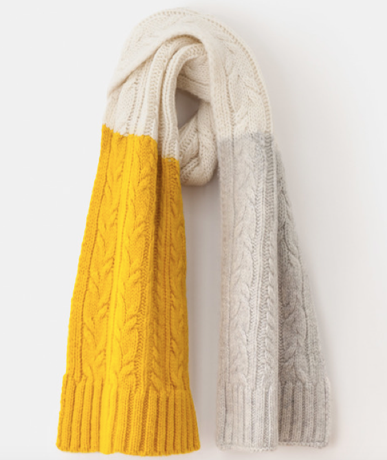 BODEN Cable knit scarf £45