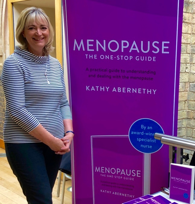 Kathy Abernethy, 'Positive Pause - Talking Menopause with Experts' event, April 2019