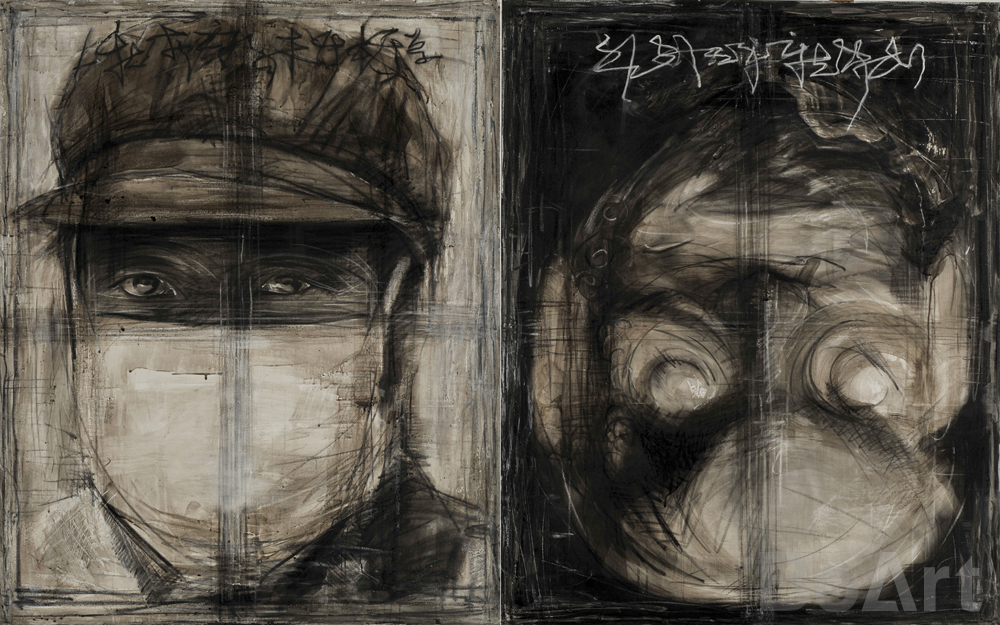Duality Sketch Portrait No. 3