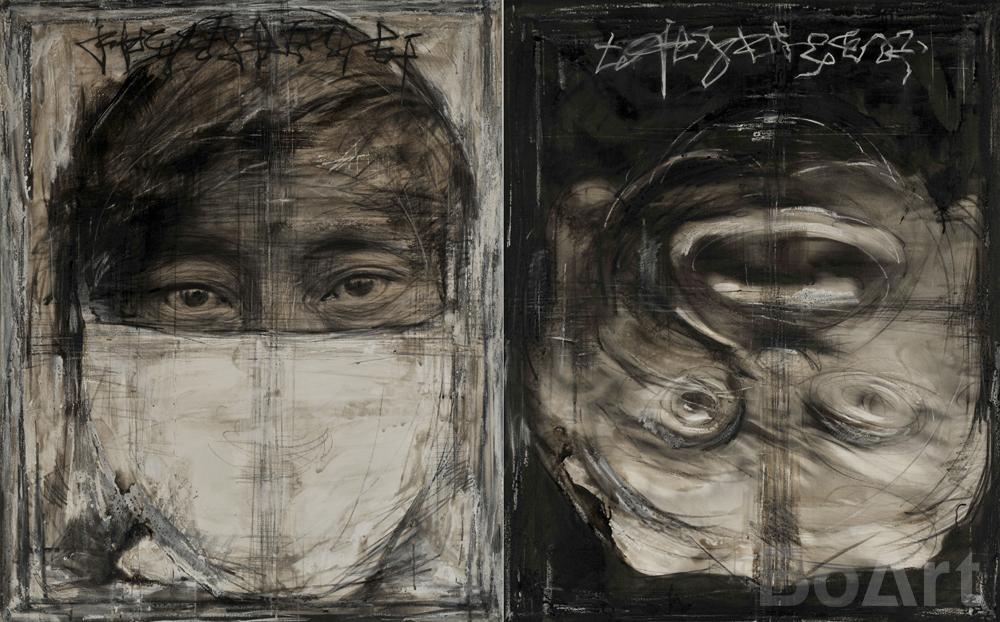 Duality Sketch Portrait No. 4