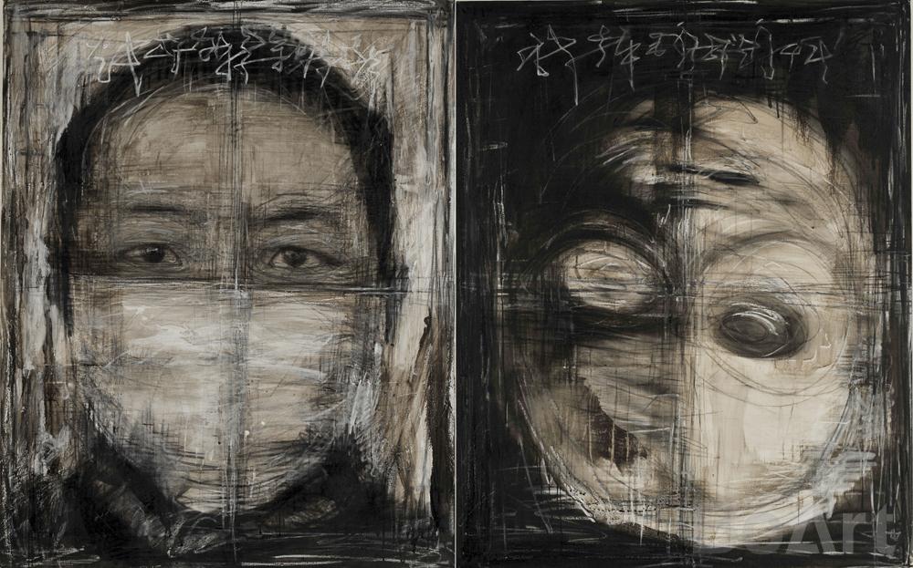 Duality Sketch Portrait No. 6
